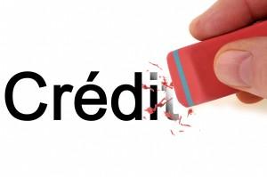 Le crédit effacé